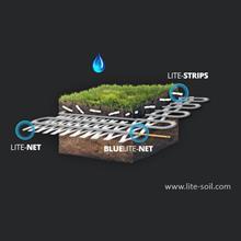 Irrigation souterraine en goutte à goutte couplée à Hydro rétenteur