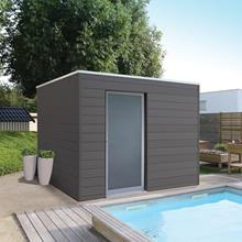 Pool house modern en bois composite