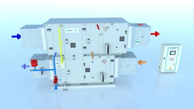 Système de traitement d'air et de déshumidification